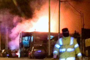 Embarazada terminó en el Hospital tras un incendio