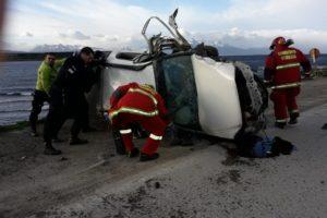 Tragedia: Murió un joven en Ushuaia tras un violento accidente