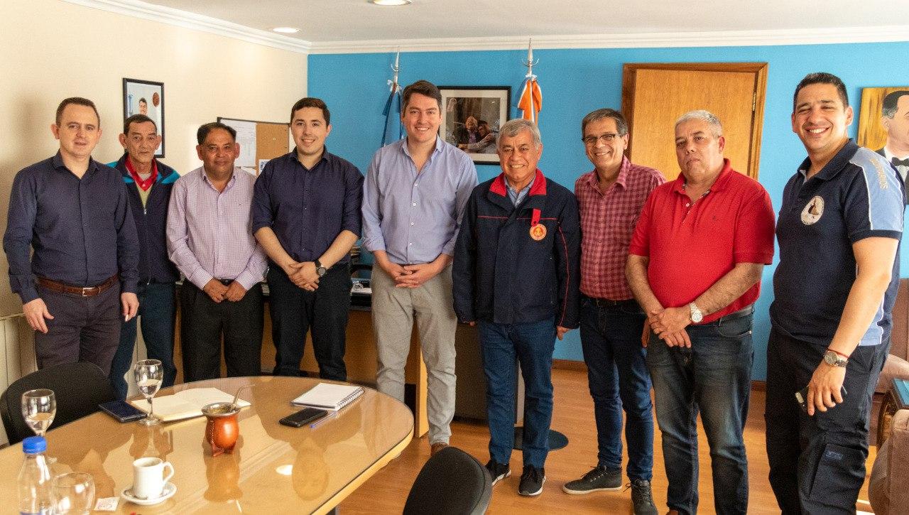 El Municipio Recibió Al Presidente Del Consejo Nacional De Bomberos Voluntarios