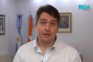 """Martín Pérez: """"En el momento más difícil de Tierra Del Fuego, aflora la fortaleza y la responsabilidad de su gente"""""""
