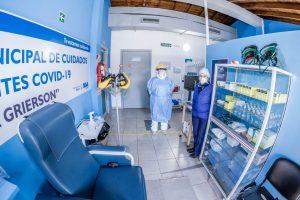 El centro municipal de cuidados covid comenzó a recibir pacientes