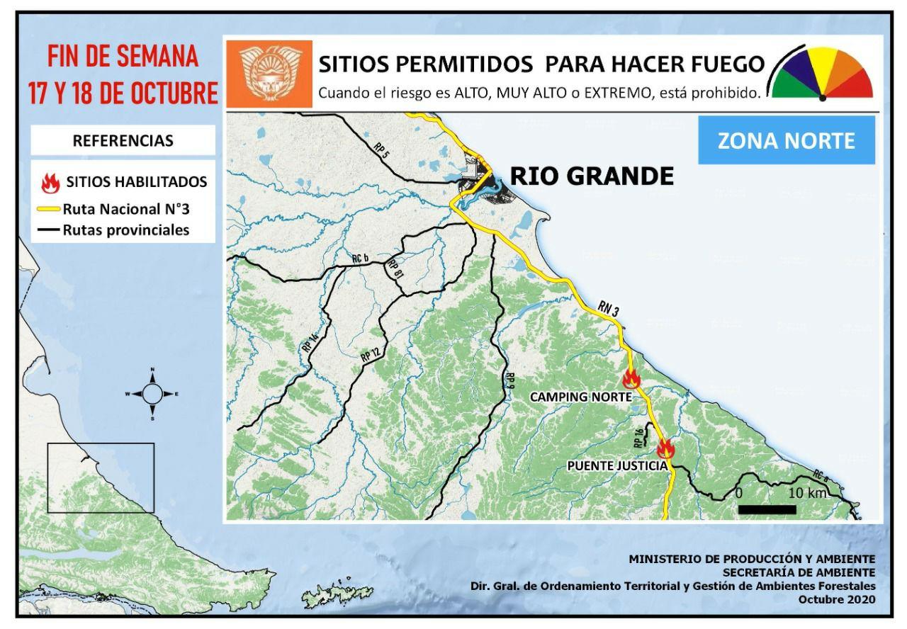 Lugares Habilitados Para Hacer Fuego En Tierra Del Fuego Rio Grande