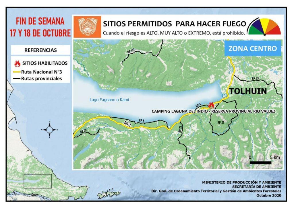 Lugares Habilitados Para Hacer Fuego En Tierra Del Fuego Tolhuin
