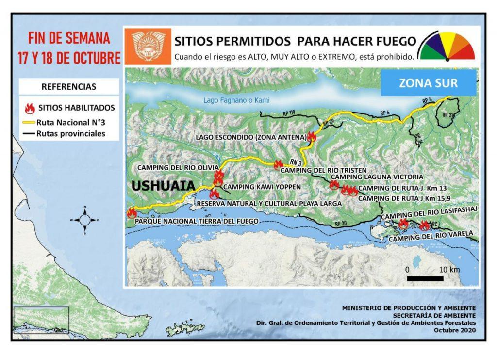 Lugares Habilitados Para Hacer Fuego En Tierra Del Fuego Ushuaia
