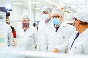 Melella y el ministro kulfas recorrieron diversas industrias en la ciudad de Río Grande