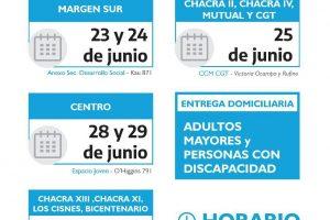 Este es el cronograma de entrega de módulos alimentarios del Municipio