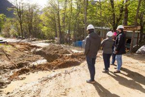 Gobierno avanza con la ejecución de obras de agua, cloaca y gas en Ushuaia