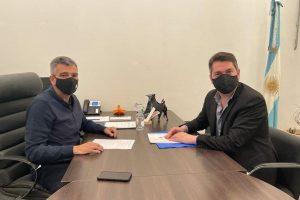El intendente se reunió con el ministro Zabaleta para fortalecer la inversión social del municipio